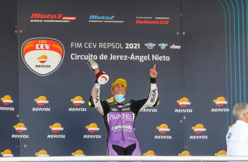 VICTORIA DE DAVID MUÑOZ EN EL MUNDIAL JUNIOR DE MOTO3 EN JEREZ