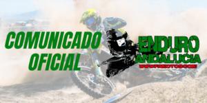 COMUNICADO OFICIAL: ENDURO DE ANTAS 13 Y 14 DE NOVIEMBRE